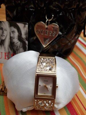 Guess Reloj con pulsera metálica marrón arena acero inoxidable