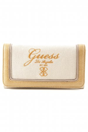 Guess Portemonnee licht beige-camel casual uitstraling