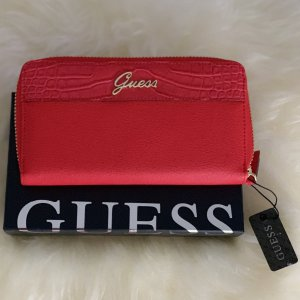 Guess Portemonnee donkerrood-rood