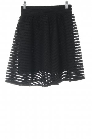 Guess Flared Skirt black striped pattern elegant