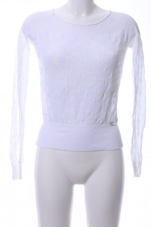 Guess Coarse Knitted Sweater white casual look