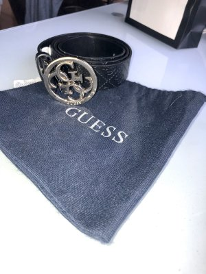 Guess Leather Belt gold-colored-black