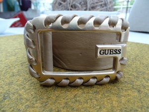Guess Leather Belt sand brown leather