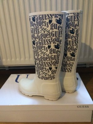 Guess Wellies white-black