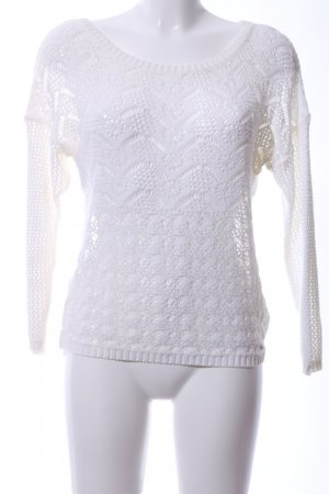 Guess Crochet Sweater white casual look