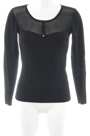 Guess Crochet Shirt black casual look