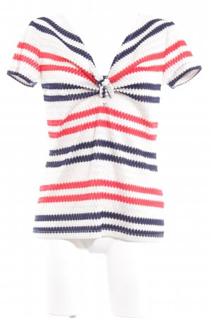 Guess Crochet Top striped pattern transparent look