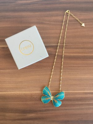 Guess Ketting zilver-lichtblauw Edelstaal