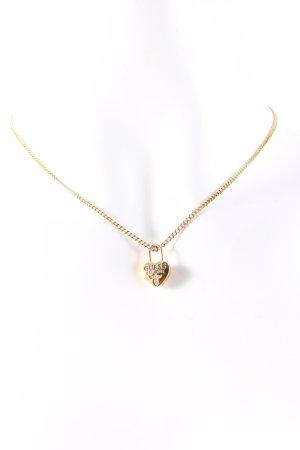 Guess Halskette goldfarben Herzmuster Elegant