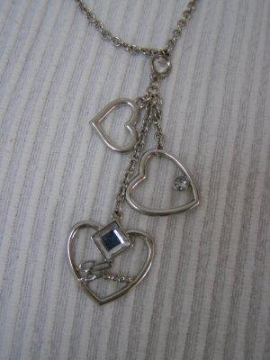 Guess Halskette mit 3 Herzen