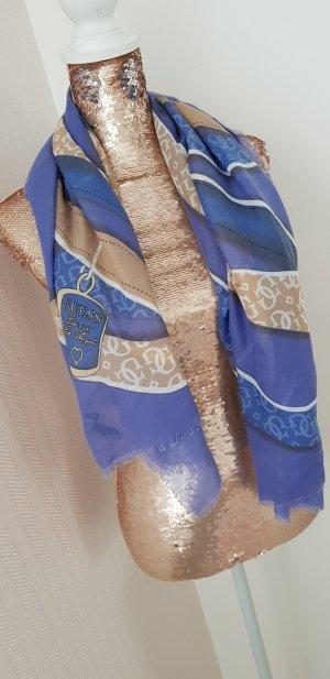 Guess Halstuch / Schal in blau/beige