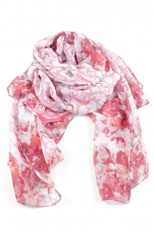 Guess Halsdoek wit-rood abstract patroon casual uitstraling