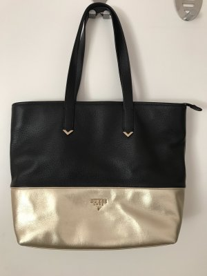 Guess Frame Bag black-gold-colored