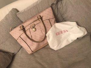 Guess Handtas stoffig roze