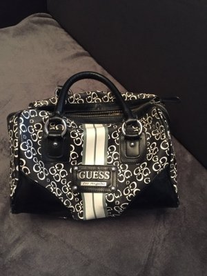Guess Bowling Bag black-gold-colored leather