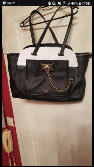 Guess Handbag white-black