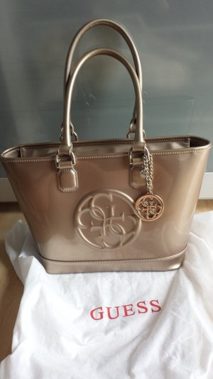 Guess Handtasche Beige/Gold