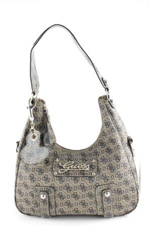 Guess Handtasche beige-schwarzbraun Allover-Druck klassischer Stil