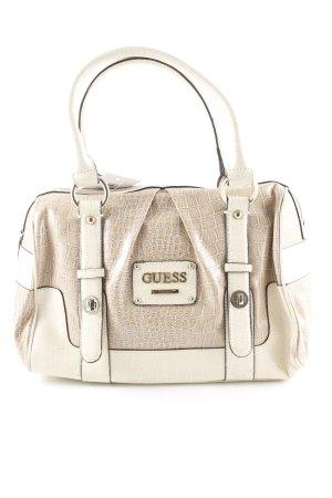 Guess Handtasche creme-beige Tortoisemuster schlichter Stil