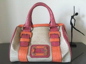 Guess Handtasche in beige, pink und orange