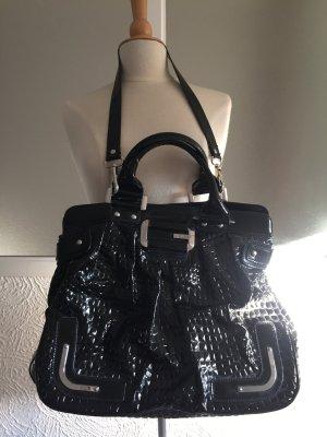 GUESS Handtasche in Kroko-Optik