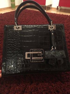 Guess Handtasche in schwarz/ lack