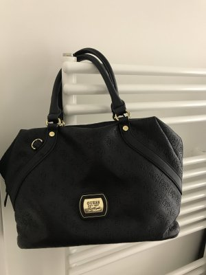 Guess Handtasche in Schwarz mit Umhängegürtel und Staubbeutel