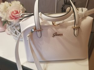 Guess Bolso blanco-color oro