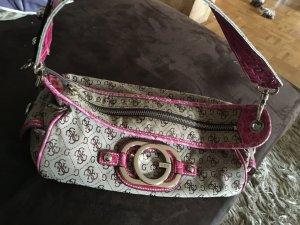 Guess Handtasche pink beige gold