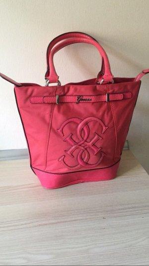 Guess Handtasche Pink mit Guess Emblem