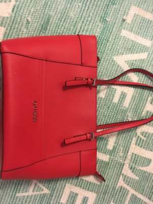 Guess Bolso barrel rojo