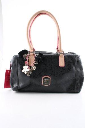 Guess Handtasche schwarz Schriftzug gedruckt Casual-Look
