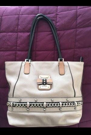 GUESS Handtasche * Schwarz * Beige