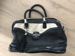 Guess Handtasche schwarz/creme wie neu