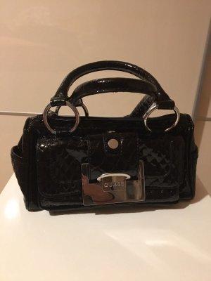 Guess Handtasche schwarz Lackleder