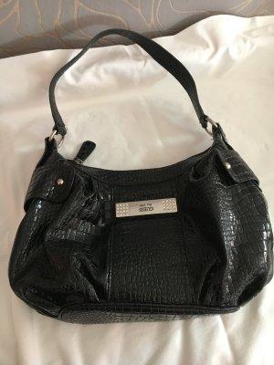 Guess Handtasche schwarz silber Swarovski Steine