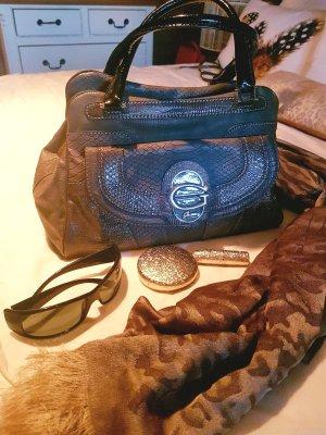 GUESS Handtasche taupe-schwarz