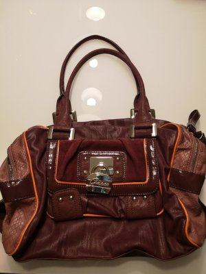 Guess Carry Bag blackberry-red-brown violet
