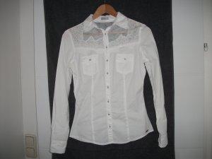 Guess Chemise à manches longues blanc
