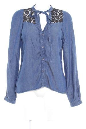 Guess Hemd-Bluse blau-schwarz Casual-Look