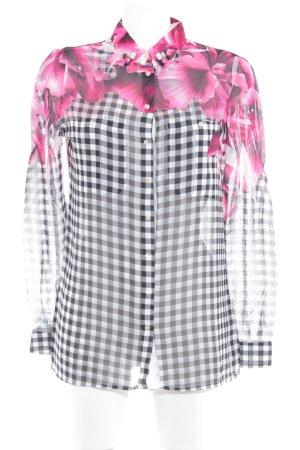 Guess Camicia blusa motivo floreale look trasparente