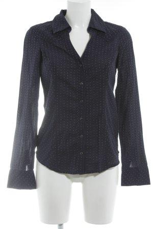 Guess Hemd-Bluse dunkelblau-weiß Farbtupfermuster klassischer Stil