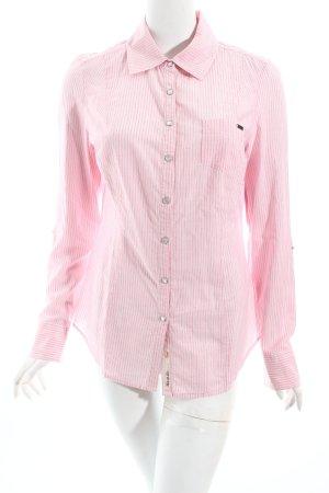 Guess Hemd-Bluse magenta-weiß Streifenmuster Business-Look