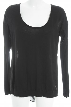Guess Blusa-camisa negro-color plata look casual