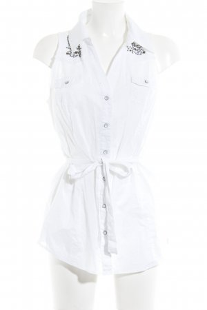 Guess Hemd-Bluse weiß Ornamentenmuster Casual-Look