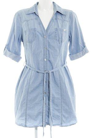 Guess Robe chemise bleu clair Aspect de jeans