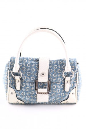 Guess Carry Bag blue-white allover print casual look