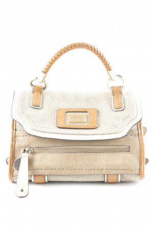 Guess Carry Bag beige-cognac-coloured weave pattern casual look