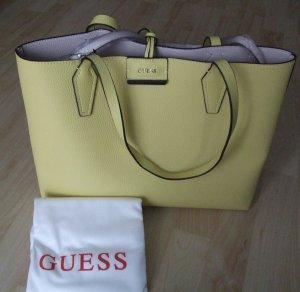 Guess Bolso de compra amarillo pálido-marrón grisáceo Sintético