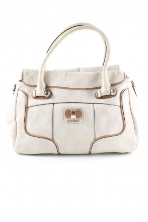 Guess Carry Bag cream-beige animal pattern extravagant style